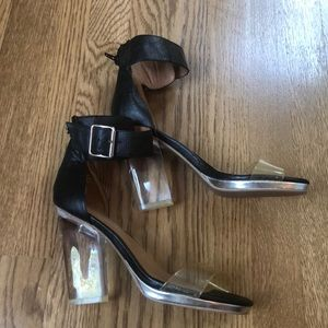 Jeffrey Campbell lucite clear heels size 8